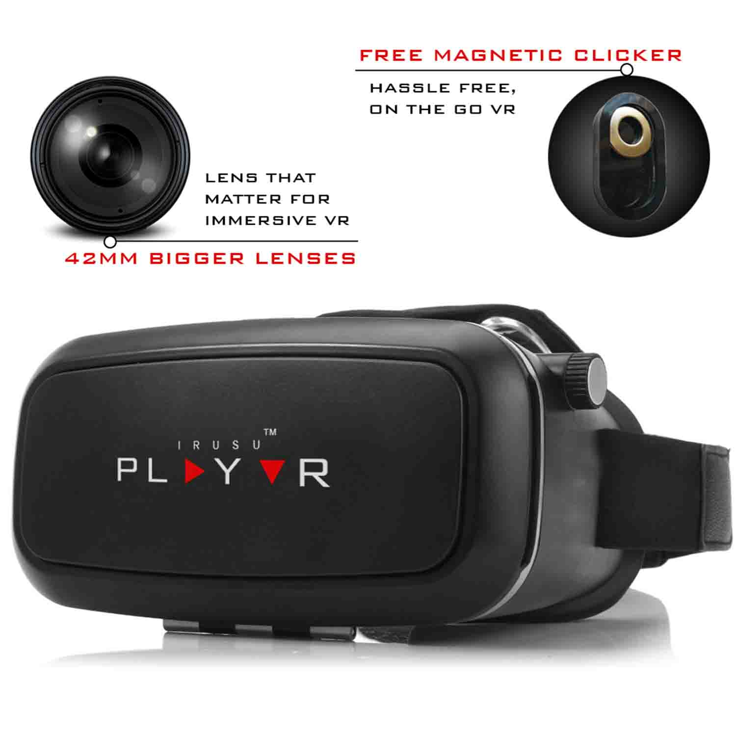 PLAYVR – VR Headset 42mm Lenses