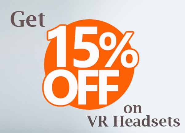 Coupons on vr headsets